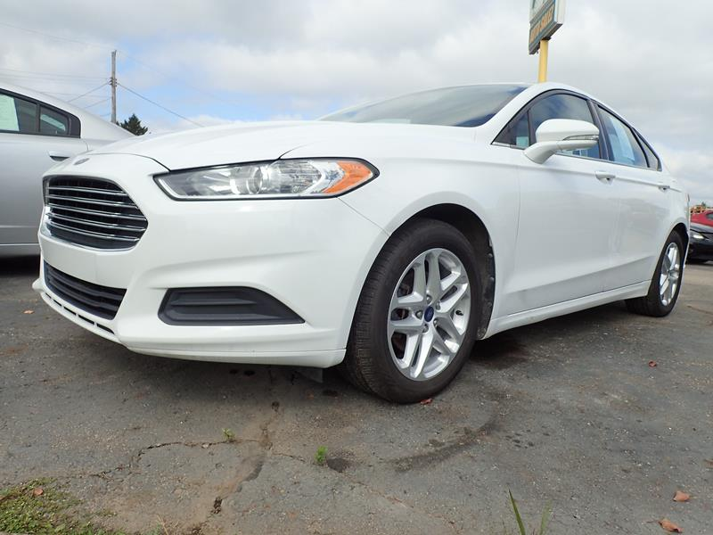 Used 2013 Ford Fusion  white exterior Stock LS-211169 VIN 3fa6p0h74dr211169
